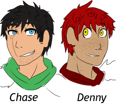 Chase and Denny: human forms by BrassWarrior