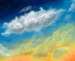 The Sky Above 2 by hamsterOtoko