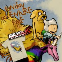 Sunday Adventure Time by ninjaink