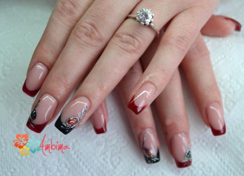 Square gel nails by Ambima