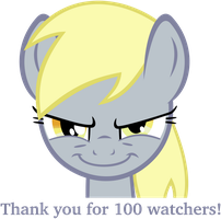 Evil Derpy - 100 Watchers! by flutterguy317