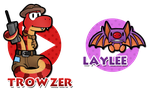 Paper Trowzer and Laylee by Noctalaty
