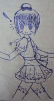 Drawing in blue pen by xXKesumiXx