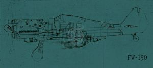 FW-190 ( blue ) by onecuriouschip