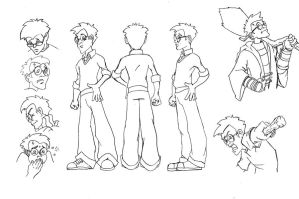 Harry Potter Model Sheet by kumajin1