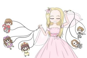 My Drawings Are My Dolls by lillilotus