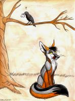 The Crow and the Fox by CatBeast17