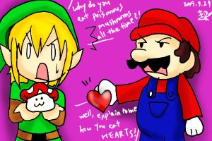 Mario and Link- How do you..? by PlatinaSi