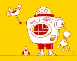 Yellow Robo I by Creaturesforhire