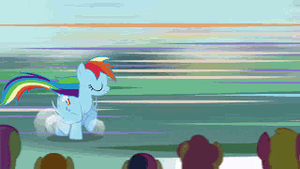 Rainbow Dash Struts it Out by SnivianMoon