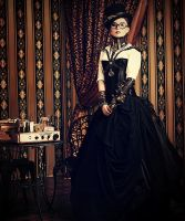 Steampunk room by Luria-XXII