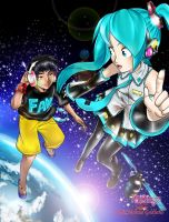 1/6 - Out of the Gravity - Miku And Alan by hirkey
