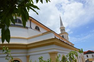 Backside of Carbet Church by A1Z2E3R