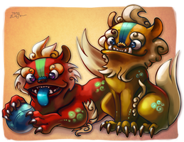 Little Foo Dogs by TsaoShin