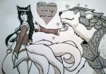 Ahri and Volibear valentines card commission by SavantGuarde