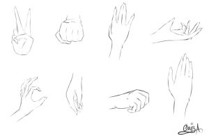 hands Practice by Diamond-Drops