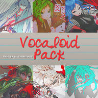 Vocaloids Pack .PSD by Love1heart1pins