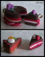 Fimo Cakes by ale-ari