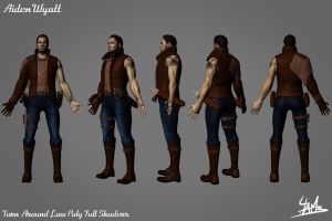 3D Character 01: Aiden Wyatt Low Poly 3 by Ulamb