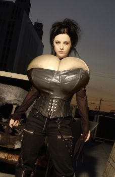 Amy Lee Breast Expansion Corset Morph by Zealot42