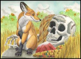 Little Fox and the Corpse by Nashoba-Hostina