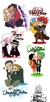 OP AU SPN Pairs by Nire-chan