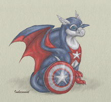 Baby Captain America Dragon by Imbecamiel