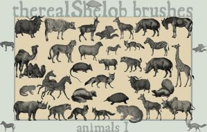 my brushes: Animals I by therealShelob