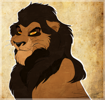 Hasir, son of Scar and Zira by Sauri-Elanor