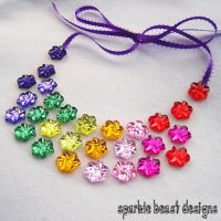 Rainbow Flower Power Necklace by Natalie526