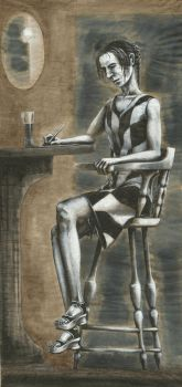 Chair, Pen and Beer 1 (Painted) by Chammadai