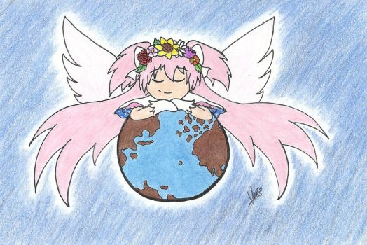 Happy Earth Day! [Madoka ver.] by LovelyKirbyGirly