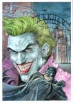 Arkham asylum_ watercolor by AllJeff