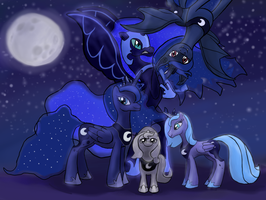 Which Luna? All of them! by RandomKooldude