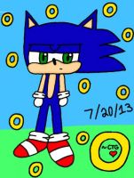 Bleh...stupid Sonic sketch (Colors3D) by The-MSP-Sketcher