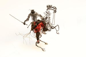 Wire Warrior Sculpture by Higashikara