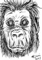An ape drawn with tablet pen by Jezzy-Fezzy