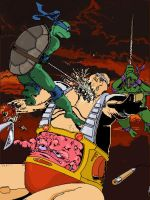 Turtles vs Krang pt. II by Soposoposopo