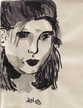 self portrait in india ink by guaharibo