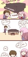 Playing Piano by Incross