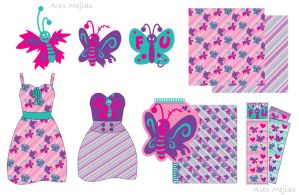 Pattern - FUButterflys by SaltyMoose