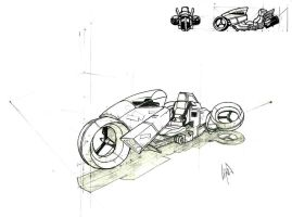 Hover Bike concept by peetietang