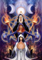 Hecate -Triple Goddess by AmberCrystalElf