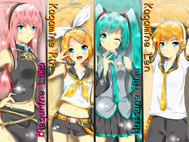 REQUEST: Vocaloid 2 (Traced) by CeciliaRinChan
