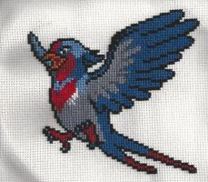 Swellow- Cross Stitch by xxEmofoxdemonxx