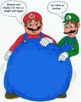 Mario's feel so chubby by MCsaurus
