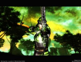 Oblivion Wallpaper Green by Oessi