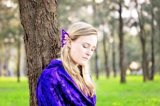 Purple Fairy Ear Wings in my Myriad design by WhimsicalPixies