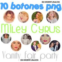 Pack Botones png Miley Cyrus [Vanity fair party] by Dreamflawless