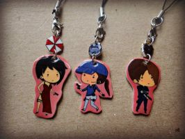 Resident Evil artwork charms by TheGeekEmporium